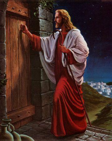 Image result for je me tiens a la porte et je frappe